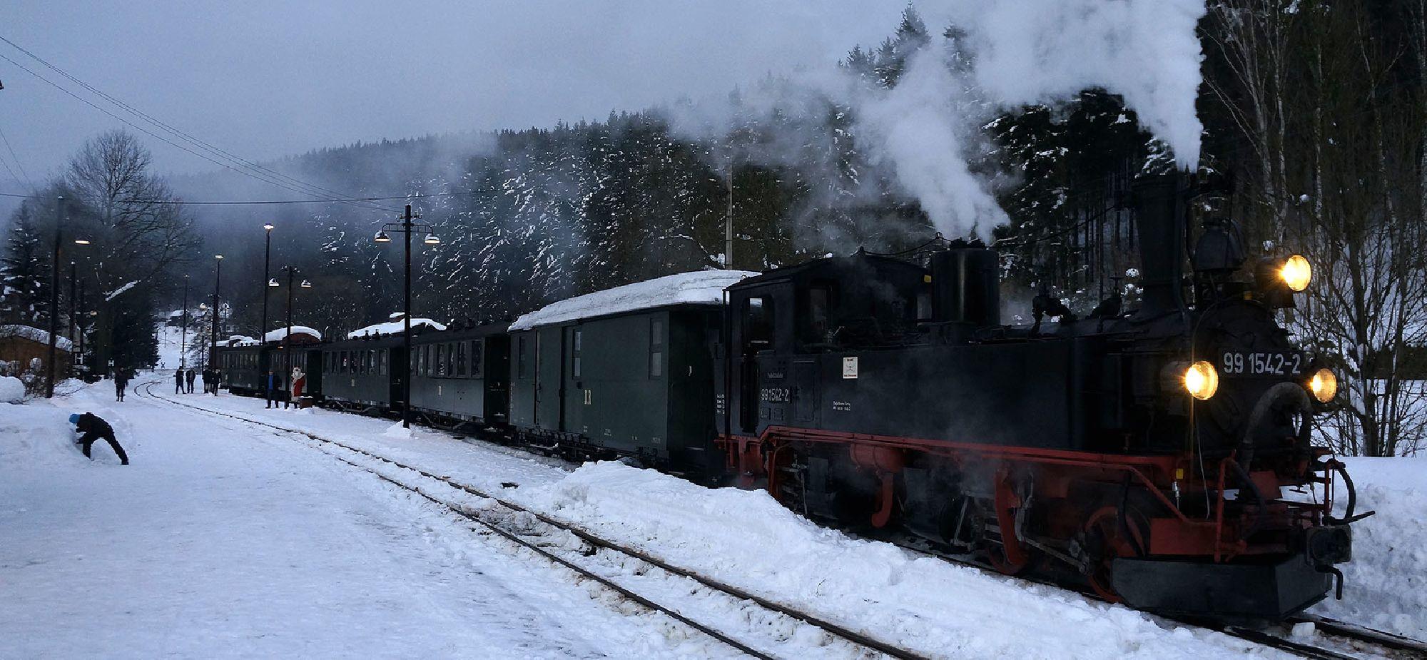 Dampflokfahrt mit der Pressnitztalbahn