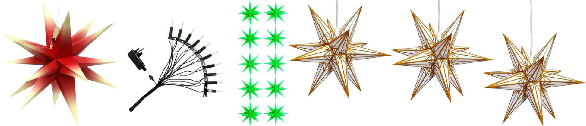 Weihnachtssterne und Sternenkette