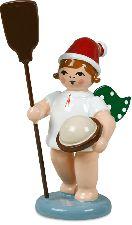 Weihnachtsengel mit Mütze und Ofenschieber