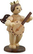 naturfarbener Musikantenengel mit Banjo