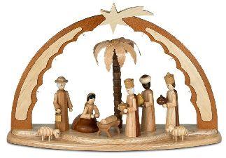 Christi Geburt mit LED Beleuchtung innen