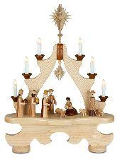 Große Spitze mit Beleuchtung Christi Geburt