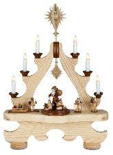Große Spitze mit Beleuchtung Weihnachtsmann mit Engel mit Krone