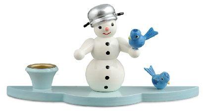 Schneemann mit Vögel