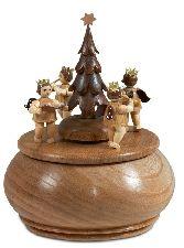 Engelgruppe mit Tannenbaum, Melodie O Tannenbaum