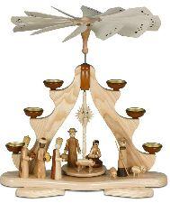 Große Pyramide Christi Geburt für Teelichter