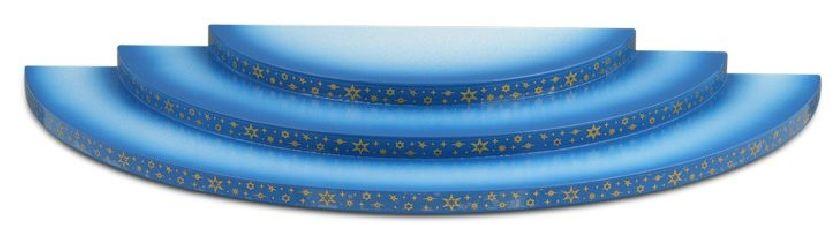 3-stufig, blau-weiß