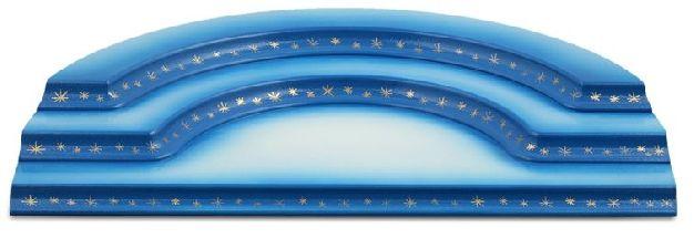 konkav, 3-stufig, blau-weiß