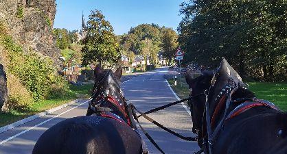 Blick aus der Pferdekutsche